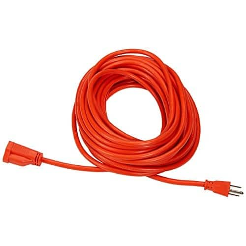 AmazonBasics 16/3 Vinyl Outdoor Extension Cord - 50 Feet (Orange) $13.31 @Amazon
