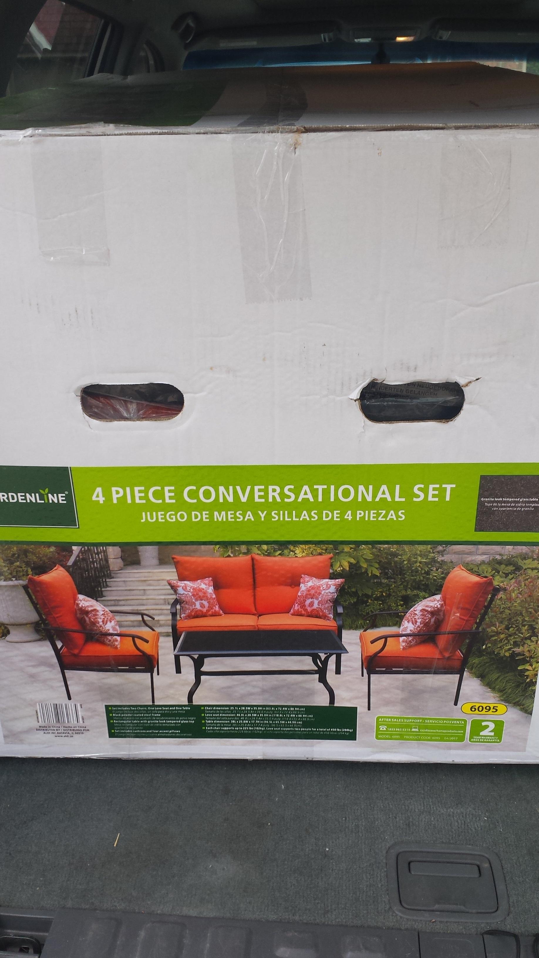 Aldi B&M 4-piece Outdoor Conversational Set - $99.99 - YMMV