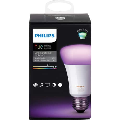 Philips - Hue White and Color Ambiance A19 Wi-Fi Smart LED Bulb $ 49.99 @Bestbuy $49.99