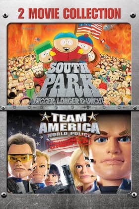 Digital HD SOUTH PARK: BIGGER, LONGER & UNCUT / TEAM AMERICA: WORLD POLICE 2-MOVIE COLLECTION $9.99