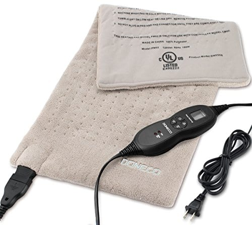 """DONECO King Size XpressHeat Heating Pad (12 x 24"""") - Heat Therapy Helps Reduce Muscle Cramps and Soreness - Features 6 Temperature Settings and Adjustable LCD Controller $20.29"""