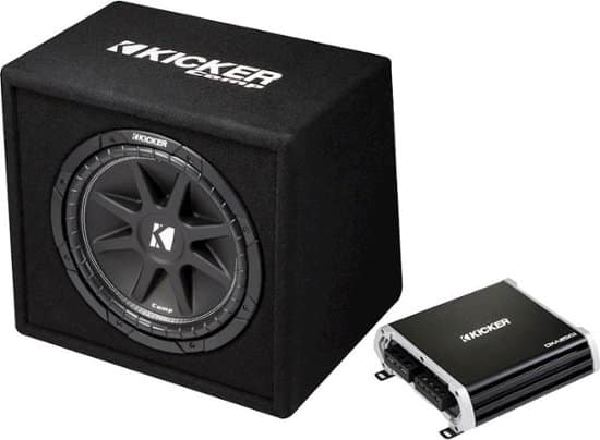 """KICKER - DXA250.1 250W Class D Mono Amplifier with Comp 12"""" Subwoofer and Enclosure $144.99 + Free Shipping"""
