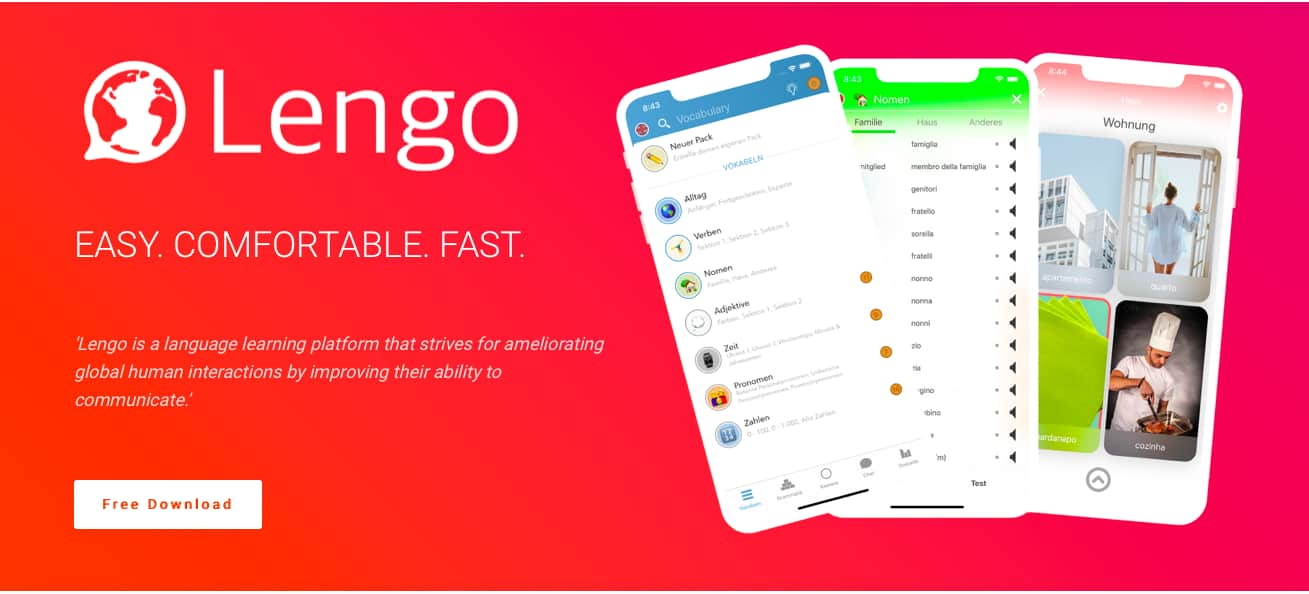 Learn languages with Lengo for free (Android / iOS)