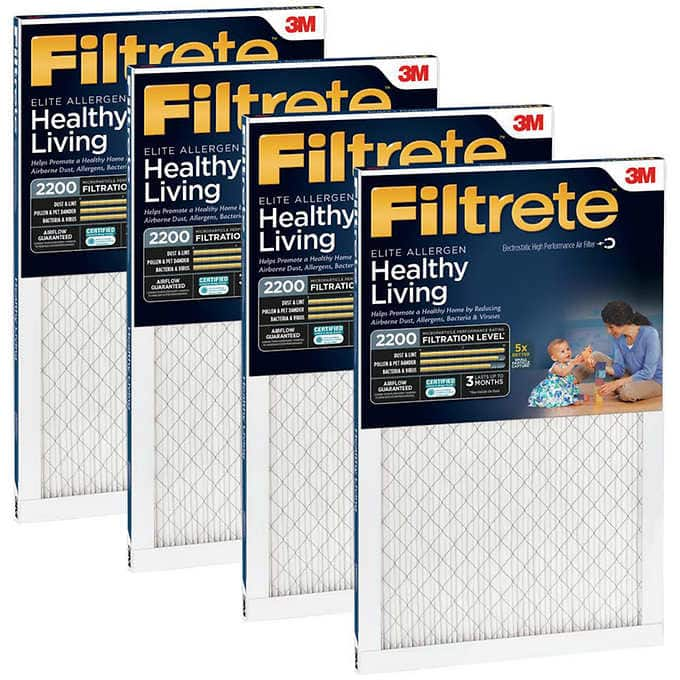 *Costco members Only* 3M 2200 Series Filtrete Filter, 4-pack (Various Sizes) $45.99