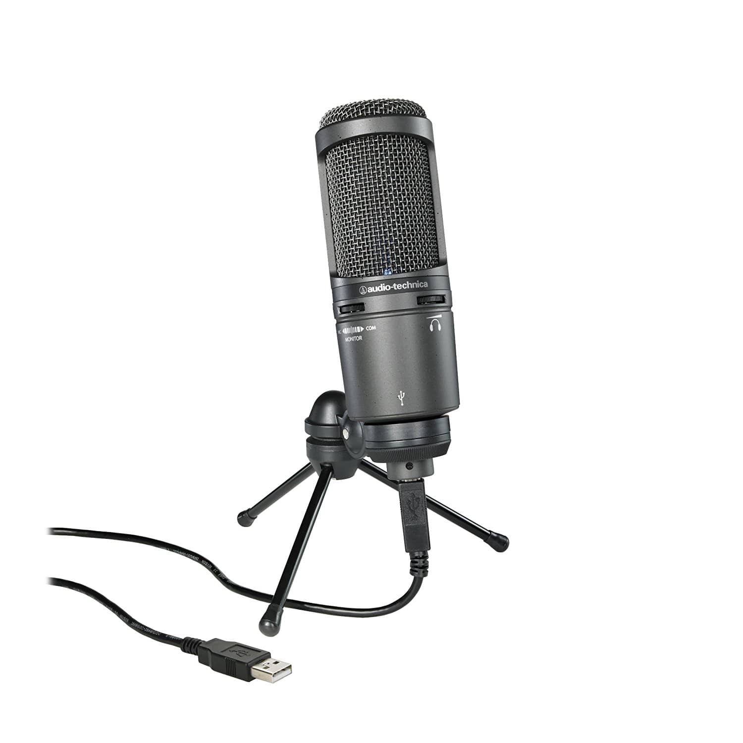 Audio-Technica AT2020USB+ Cardioid Condenser USB Microphone $74.99 + free shipping