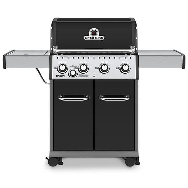 Broil King Baron 440 Black 4-Burner Natural Gas Grill with 1 Side Burner $117.25 with $20 coupon + Free Shipping + taxes YMMV_
