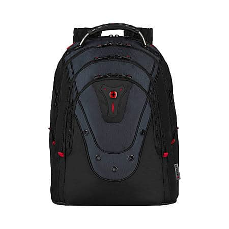 "Swissgear Wenger IBEX Backpack With 17"" Laptop Pocket, Black/Blue - $55 FS"