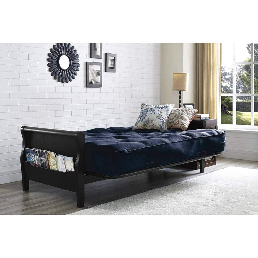 Better Homes And Gardens Wood Arm Futon With 8 Coil Mattress
