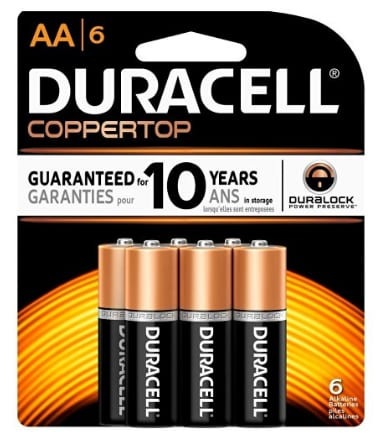 AA Duracell Coppertop Alkaline Battery 6-Pack on Clearance at Staples for $1.00 . In store only. YMMV.