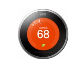 Nest Learning Thermostat 3rd Generation - Stainless Steel for $180 + google mini