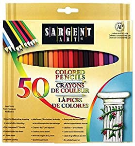 Sargent Art Premium Coloring Pencils, Pack of 50 Assorted Colors Add-on Item $4.94 @Amazon