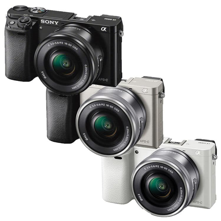 Sony Alpha a6000 Mirrorless Camera-w 16-50mm Lens Black Silver or White Import Model $479!