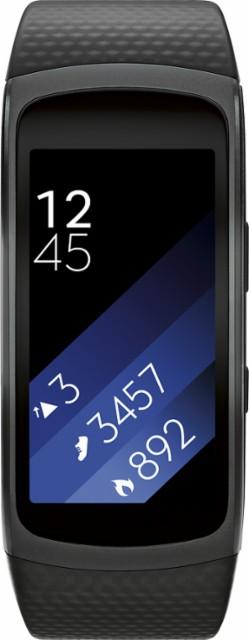 Samsung - Geek Squad Certified Refurbished Gear Fit2 Fitness Watch + Heart Rate (Large) - Black $ 84.99 @Bestbuy $84.99
