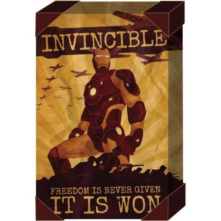 20x30 inch Marvel Superhero Canvas Art $5.01 + free store pickup @ Walmart (Hulk, Captain America, Iron Man)