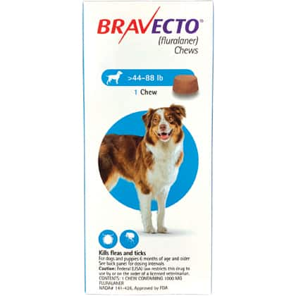 Bravecto Flea and Tick Medication for Dogs $31.80