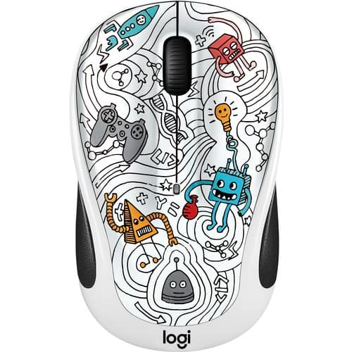 M325c Doodle Collection Wireless Optical Mouse - Techie White  @ Bestbuy $12.99