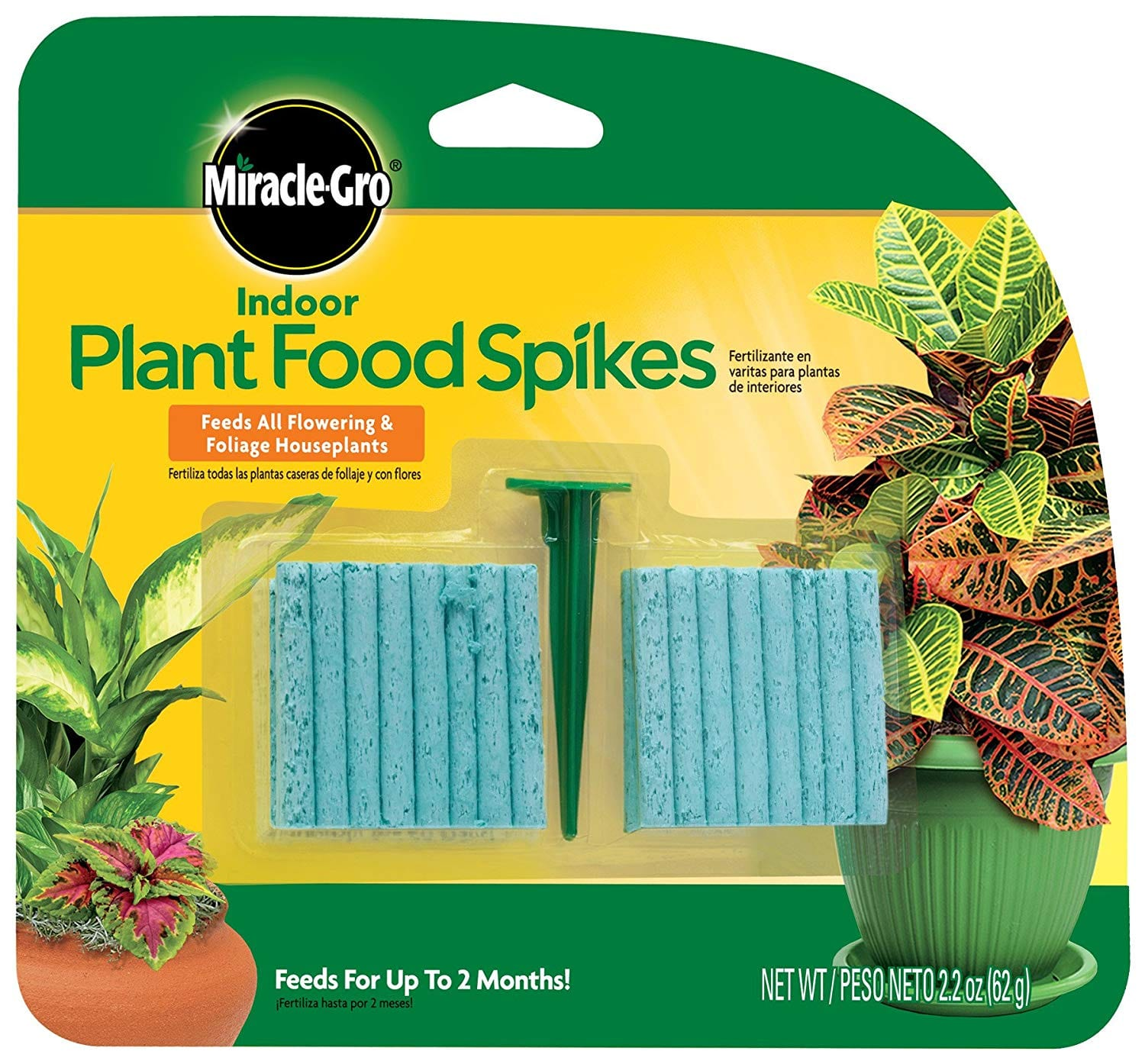 2 24 Miracle Gro Indoor Plant Food 48 Spikes Slickdeals