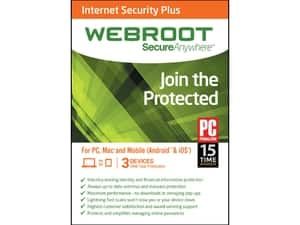 Webroot Internet Security Plus 2015 for 3 devices (digital download) - $7.99 with promo code @ Newegg