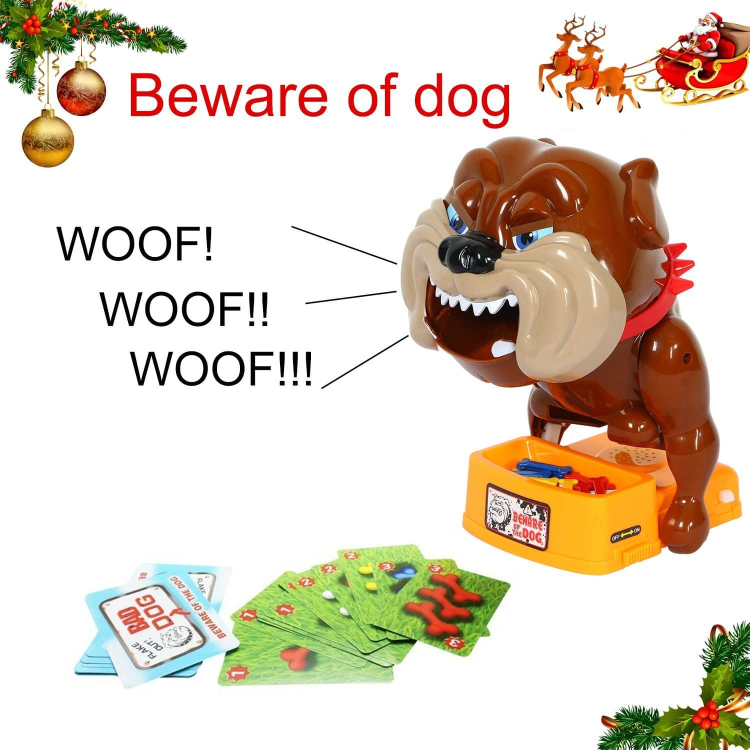 TONOR Be Ware of Barking Dog Novelty Prank Bones Card Toy Board Game for Kids/Party $12.99 AC (reg. $19.99)