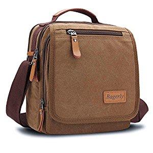 [Amazon] Canvas Vintage Shoulder Bag Multi-Pockets $10.99 (reg. $21.99)