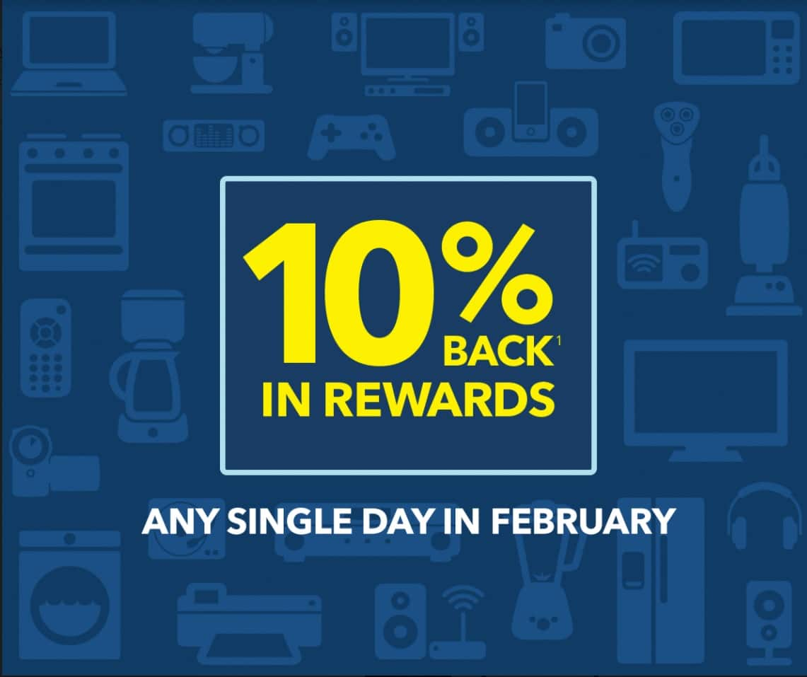 Best Buy For Cardmembers only: Get 10% back in rewards. Offer ends February 28, 2018