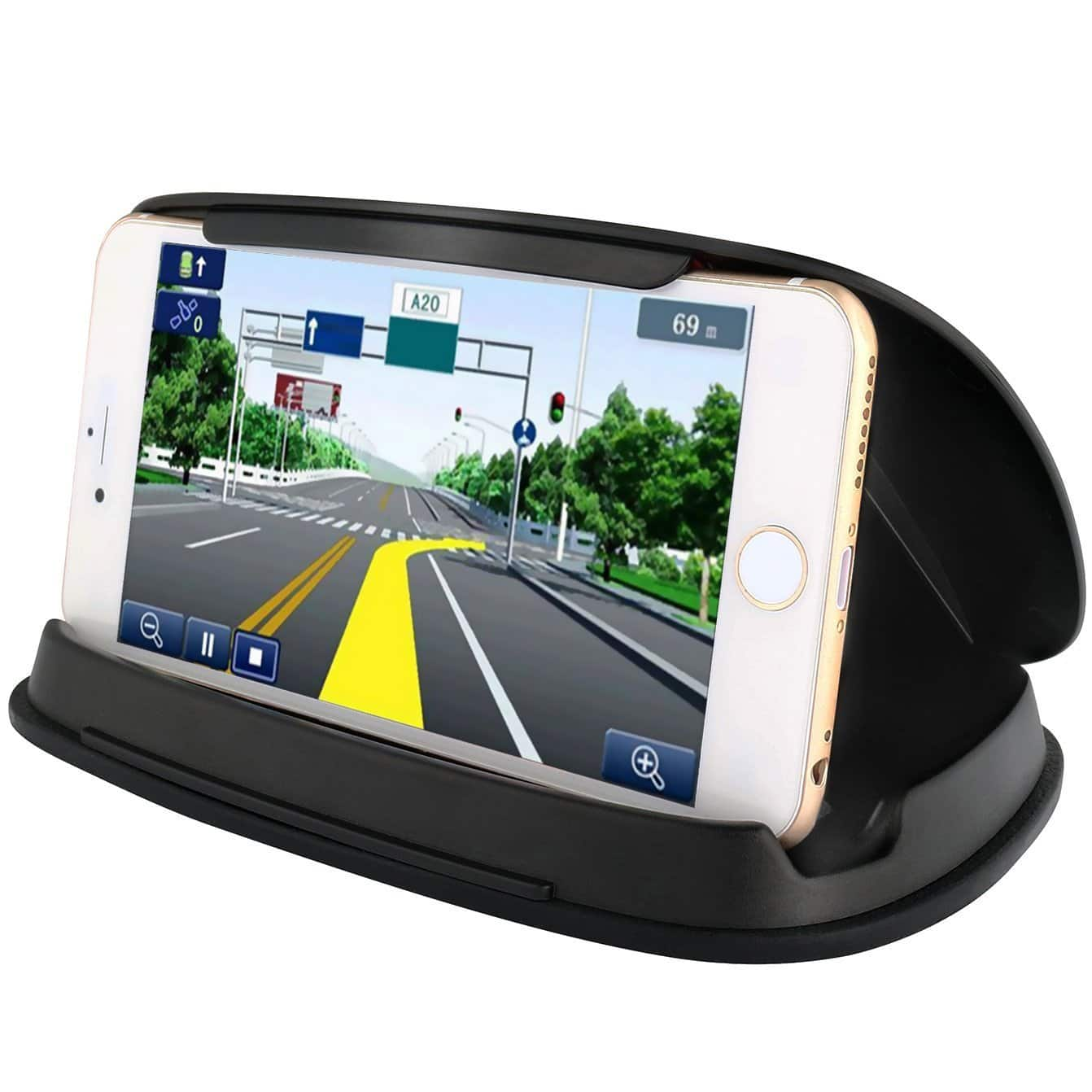 [Amazon] Cell Phone Holder for Car, Car Phone Mounts for 3-6.8 Inch Universal Smartphones, GPS - Black $7.49 FS (reg. $12.99)
