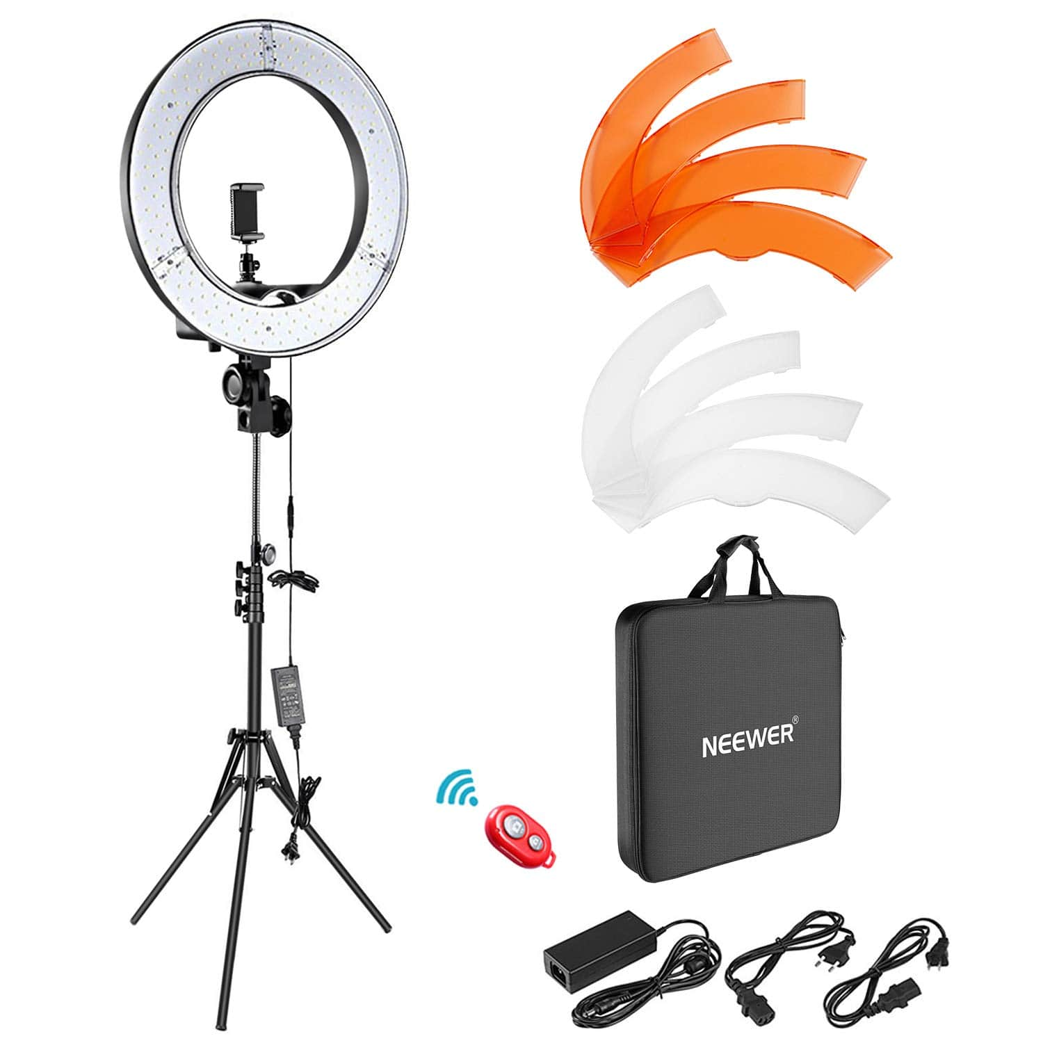"[55% Off] Neewer Ring Light Kit:18""/48cm Outer 55W 5500K Dimmable LED Ring Light, Light Stand, Carrying Bag for $61"