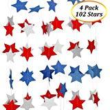 Red White Blue Star Streamers Patriotic Star Party Decorations $4.99