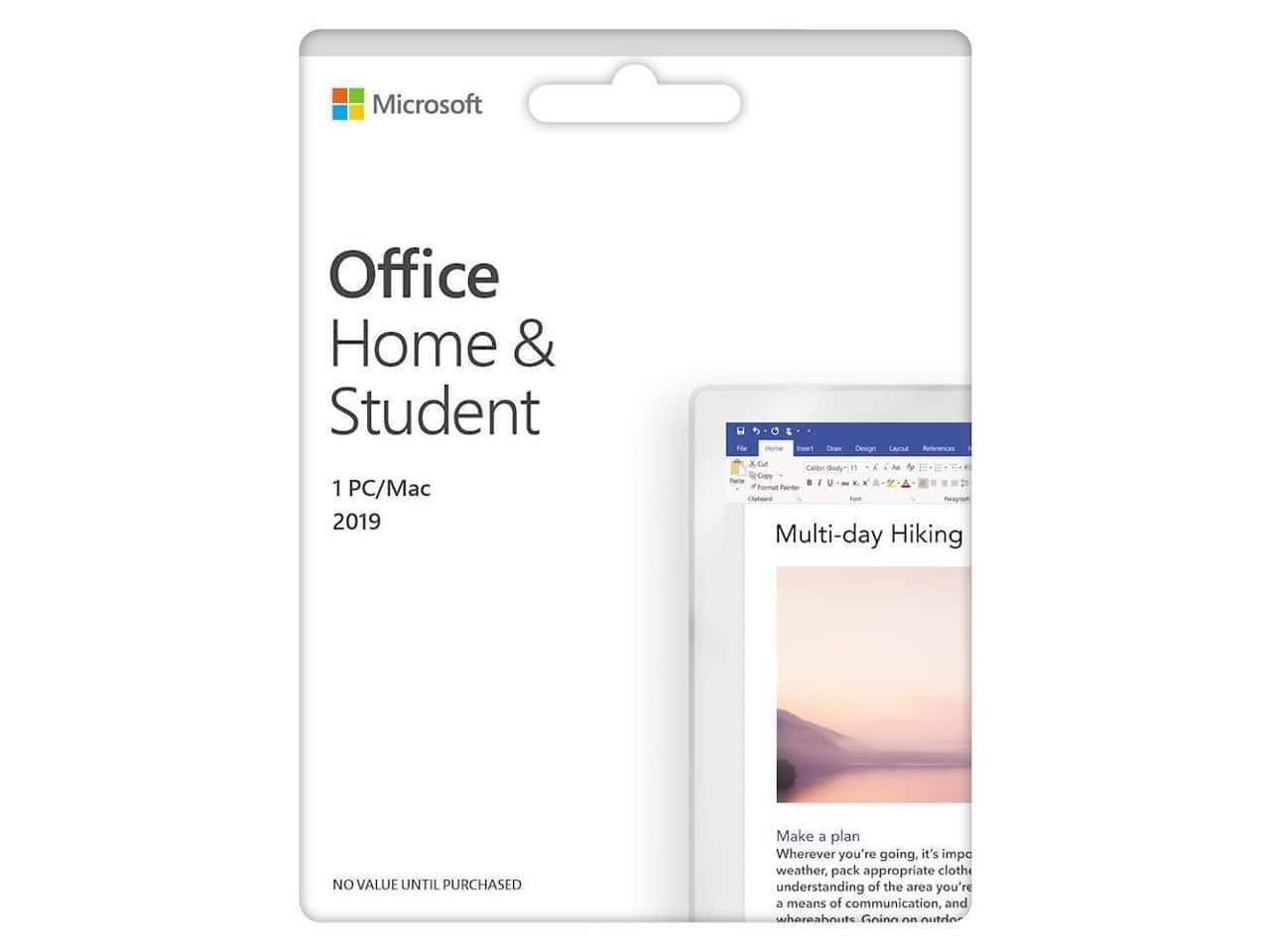 Microsoft Office Home & Student 2019 (1 Device) (Product Key Card) - Mac|Windows for $69.99
