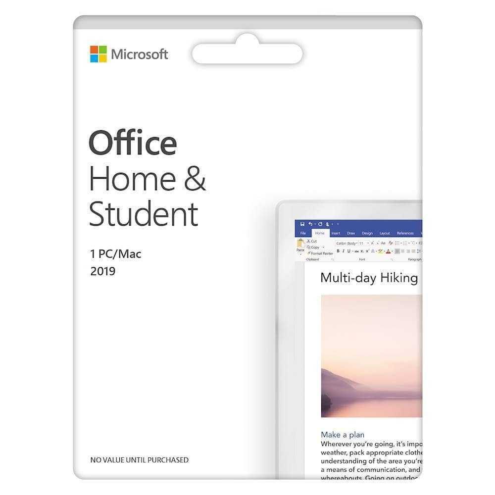 Microsoft Office Home & Student 2019 (1 Device) (Product Key Card) - Mac|Windows $85.99