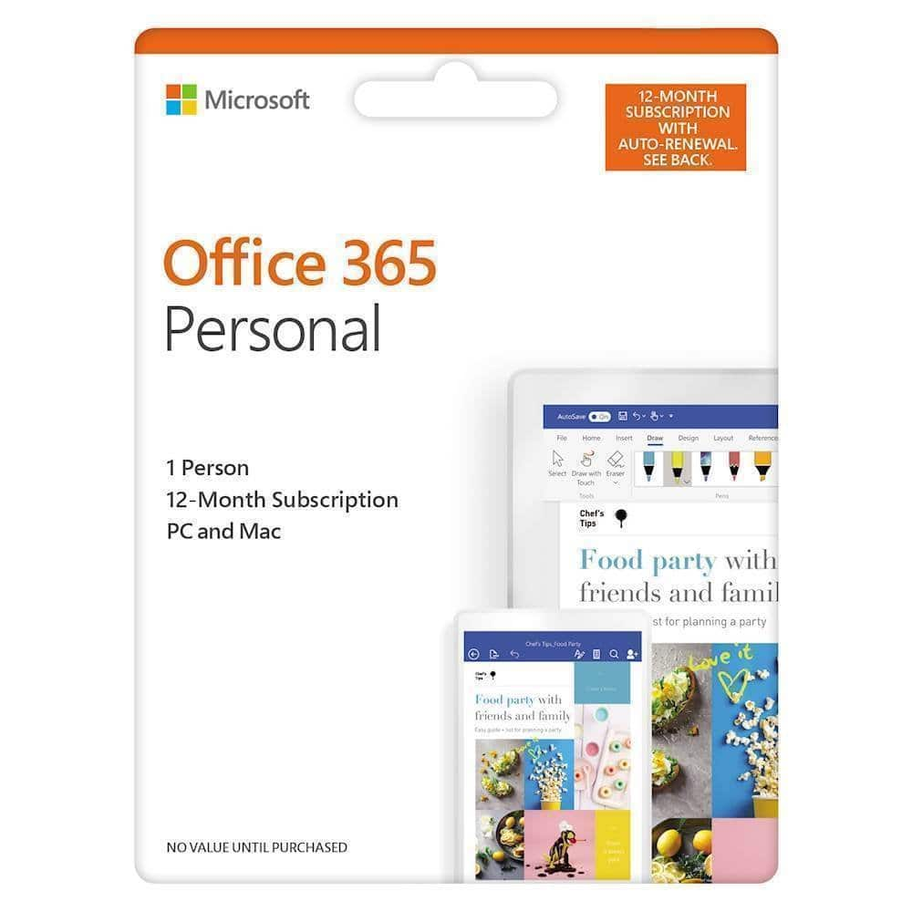 Microsoft Office 365 Personal (1 Person) (12 Month Subscription) - Android|Mac|Windows|iOS $67.99