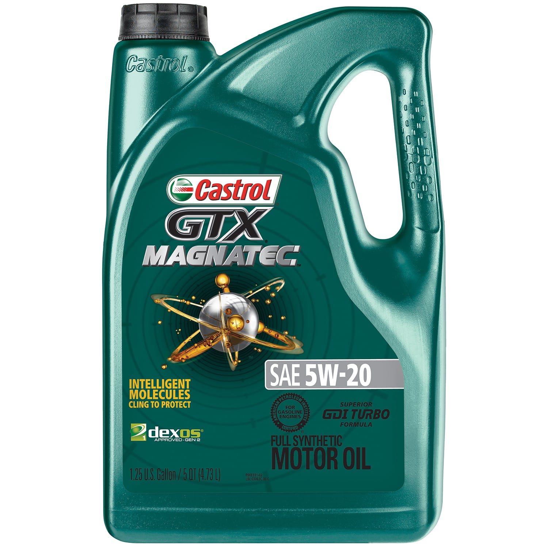 5-Quart Castrol GTX Magnatec 5W-20 Full Synthetic Motor Oil $15.67 + FREE SHIPPING w/PRIME