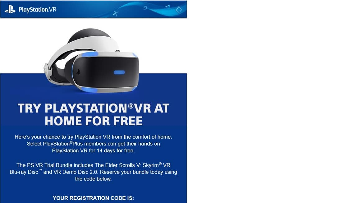 Playstation VR Skyrim Trial Bundle - $299.99 - YMMV - Check your emails