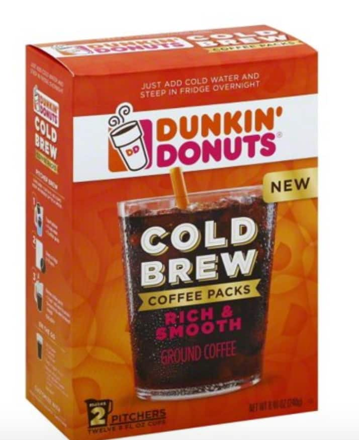 Dunkin' Donuts Cold Brew Coffee Pitcher Packs, 2 Count 6.98 at Walmart