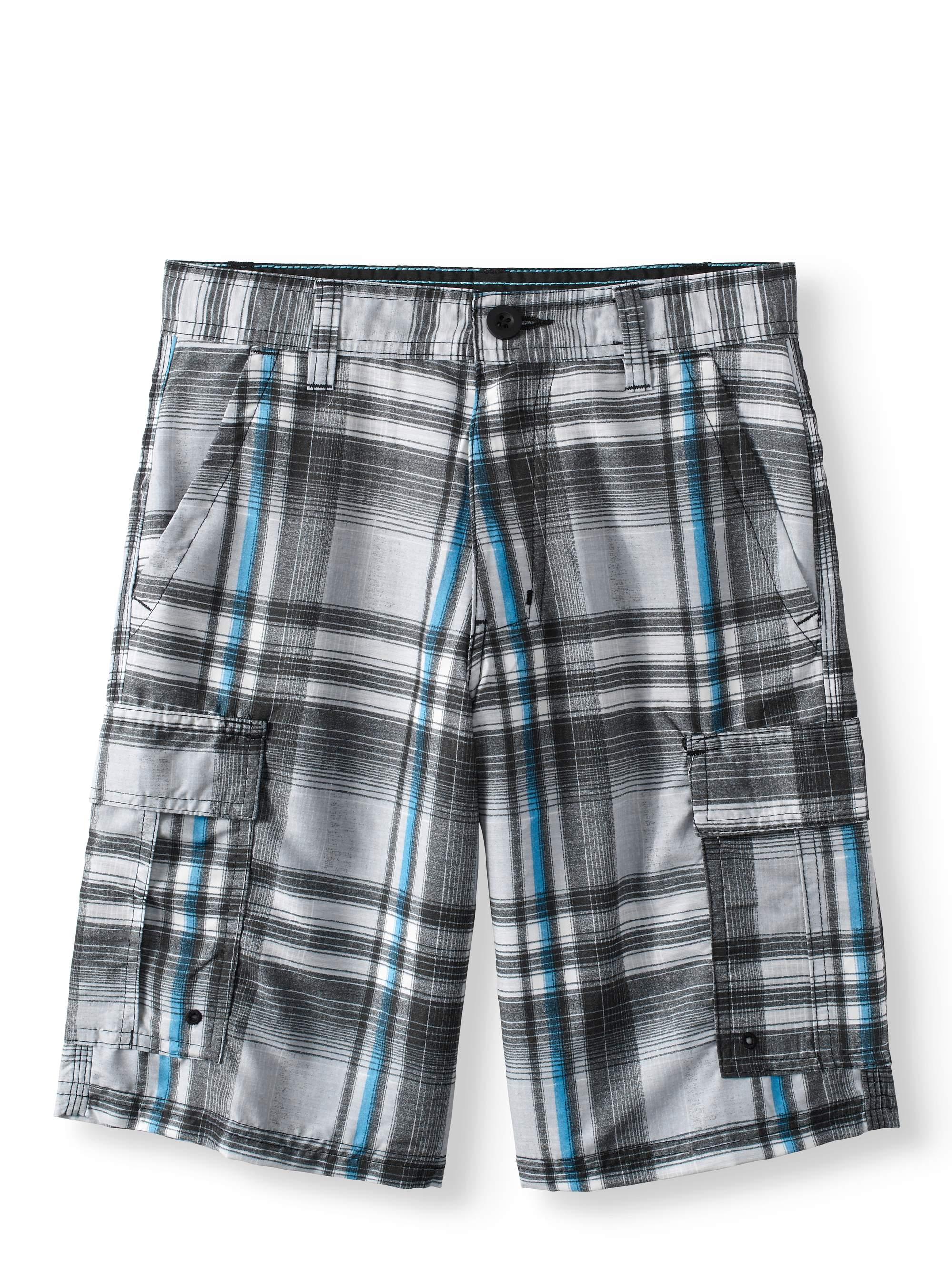 Big Boys Plaid Cargo Shorts $8.99 2-day shipping@walmart