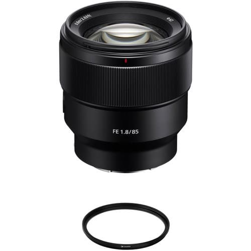 Sony FE 85mm f/1.8 Lens with UV Filter Kit $548