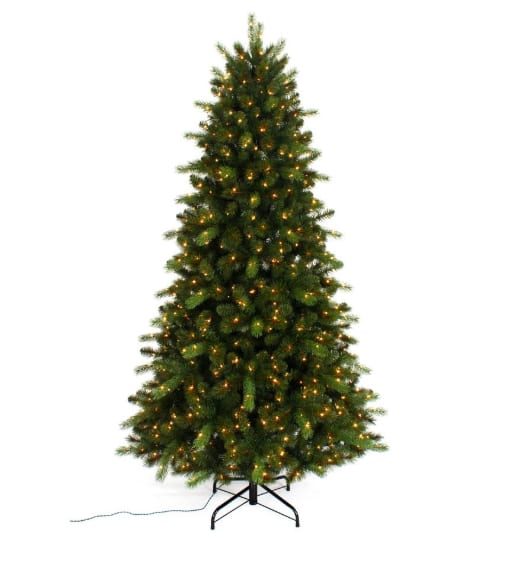 7.5 ft. Pre-Lit Braxton Color Changing 8-Function Artificial Christmas Tree with 700 Micro Dot LED Lights $79 + FS @ Home Depot