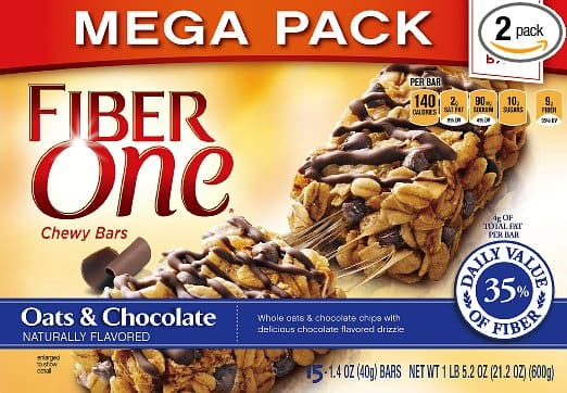 Fiber One Chewy Bars Oats and Chocolate, 30 Bars, (2x 15-Bar Mega Packs), 21.2 oz. (Pack of 2) - $8.50 After S&S and 25% coupon (Prime members only)