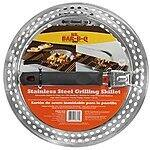 Mr. Bar-B-Q 06753X Stainless Steel Grilling Skillet with Finger Grip Handle $6.47 sss eligible @ amazon