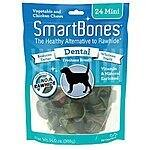 SmartBones Dental Dog Chew, Mini, 24-count $6.09 add on item @ amazon