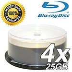Blaze 4X Single Layer Write Once 25GB Blu-Ray Blank Disc / 100pk + 12MM Single Blu-Ray Premium DVD Cases with Blu-ray Logo / 100pk $77.00 ac / fs @ s4t