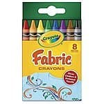 Crayola 8-Count Fabric Crayons $0.98 add on item @ amazon