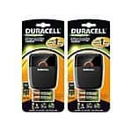 Duracell Quick Charger - 2 Pack with 4 AA & 4 AAA NiMH Rechargeable Batteries $19.99 + $5 s.h @ woot