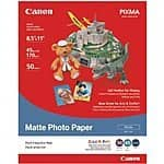 Canon Matte Photo Paper, 8.5 x 11 Inches, 50 Sheets (7981A004) $4.44 sss eligible @ amazon