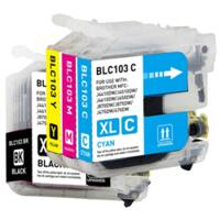Meritline Deal: 4 Sets (16 Cartridges) Brother LC103 (LC103BK,LC103C,LC103M,LC103Y) Compatible H (137-157-004) $19.95 ac / fs @ m