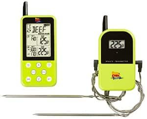 Maverick Industries Long Range Wireless Dual Probe Barbecue Smoker Meat Thermometer Set - Newest Version with a Larger Display ... Green ... $54.99 ac / fs @ amazon
