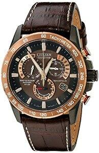 Citizen Men's AT4006-06X Stainless Steel Eco-Drive Watch with Leather Band $259.45 fs @ amazon