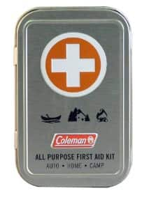 Coleman All Purpose First Aid Tin 27-Piece, Metal Tin $3.70 add on item @ amazon