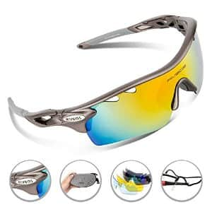 RIVBOS® 801 Polarized Sports Sunglasses with 5 Interchangeable Lenses for Men Women Cycling Running Glasses from $14.23 ac / sss eligible @ amazon