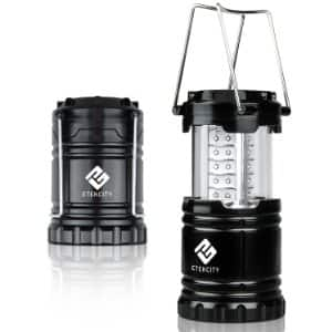 Etekcity Ultra Bright Portable LED Camping Lantern Flashlight with 3 AA Batteries (Black, Collapsible) $7.99 sss eligible @ amazon